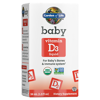 Organic Baby Vitamin D3 (1.9oz Liquid) Garden of Life