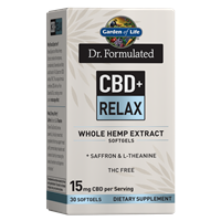 Dr. Formulated CBD+ Relax Softgels
