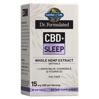 Dr. Formulated CBD+ Sleep Softgels