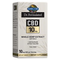 Dr. Formulated CBD 10mg (60 Softgels)
