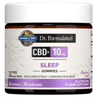 Dr. Formulated CBD+ Sleep 10mg Blueberry Gummies (60 Gummies)