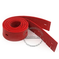 "Squeegee Set (2 Blades) Red Rubber - Replaces Linatex OEM# 1203327, 11023329 (26 in deck / 600mm & 28"" in deck / 700mm)"