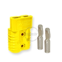 SB175 Anderson connector with 4 AWG contacts - Yellow 12 Volts