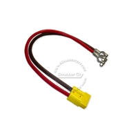 "Battery Cable Anderson connector SB50 4 Gauge 24"" inches lugs .12 volt applications red connector universal battery cable, universal eyelets"