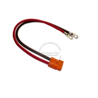 "Battery Cable Anderson connector SB50 4 Gauge 24"" inches eyelets 3/8"" .18 volt applications orange connector universal battery cable, universal eyelets"
