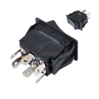 Rocker switch DPDT 6 snap-in terminals 20A 125V