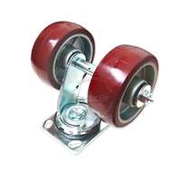 Aluminum wheel assembly. Swivel caster