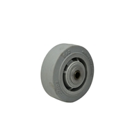 "Colson Performa Rubber Flat Grey with roller bearing and spanner 5""x2"""