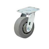 "Colson Performa Rubber Flat Grey Tread  Swivel Caster Wheel 5""x2"""