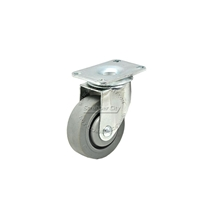 "Plastic wheel with swivel caster 3-1/2"" x 1-1/4"""