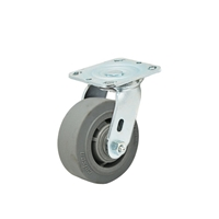 "Colson Performa Rubber Flat Grey Tread  Swivel Caster Wheel 4""x2"""