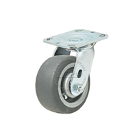 "Plastic wheel with swivel caster 5"" x 2"""