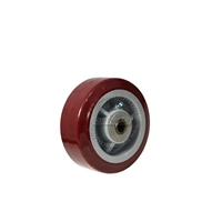 "Polyurethane wheel with bearing and spanner. Size 5"" x 2"". Non-marking"