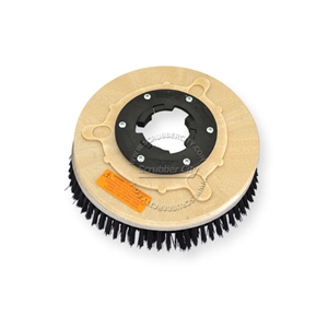 "10"" Poly scrubbing brush assembly fits Cassidy (Clean-O-Matic) model 12"