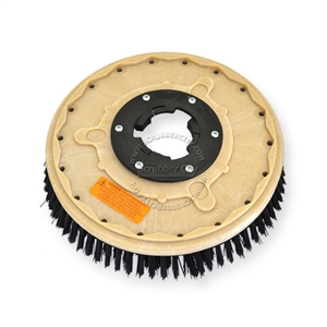 "13"" Poly scrubbing brush assembly fits PACIFIC / STEAMEX model PCP-15"