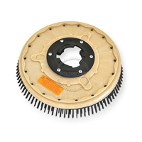 "13"" Steel wire scrubbing brush assembly fits MINUTEMAN (Hako / Multi-Clean) model FR-15 (Frontrunner)"