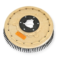 "19"" Steel wire scrubbing brush assembly fits (SSS) Standardized Sanitation Systems model 21"