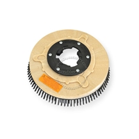 "12"" Steel wire scrubbing brush assembly fits Clarke / Alto (American Lincoln) model Champion-14"