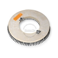 "17"" Steel wire scrubbing brush assembly fits Clarke / Alto (American Lincoln) model 7000SS,7700 Scrubmobile (3/Set)"
