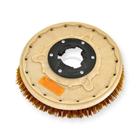 "14"" MAL-GRIT XTRA GRIT (46) scrubbing brush assembly fits Tennant model Power Trend 15"