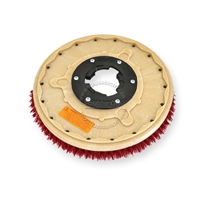 "14"" MAL-GRIT LITE GRIT (500) scrubbing brush assembly fits Tennant model Power Trend 15"