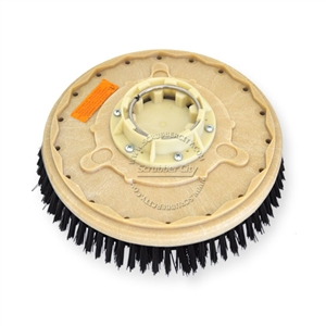 "14"" Poly scrubbing brush assembly fits Clarke / Alto (American Lincoln) model 960 Scrubmobile (3/Set)"