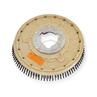 "16"" Steel wire scrubbing brush assembly fits GENERAL (FLOORCRAFT) model GVS-19"