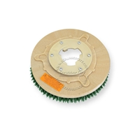"12"" MAL-GRIT SCRUB GRIT (120) scrubbing brush assembly fits HILLYARD model Deluxe Single 14"