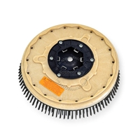 "13"" Steel wire scrubbing brush assembly fits MINUTEMAN (Hako / Multi-Clean) model 26-B"