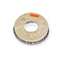 "12"" Steel wire scrubbing brush assembly fits NILFISK-ADVANCE model Convertamatic TRAC 5000B (4/Set)"