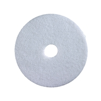 "13"" White Polishing Pads Case of 5"