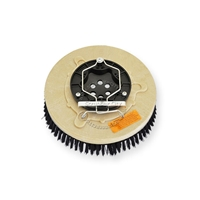 "12"" Poly scrubbing brush assembly fits Factory Cat / Tomcat model GTX26"