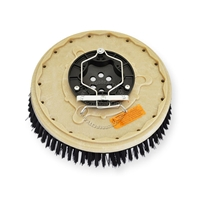 "16"" Nylon scrubbing brush assembly fits Tennant model 8400, 8410,"