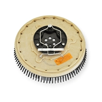 "14"" Steel wire scrubbing brush assembly fits Tennant model 7200 Tight Aisle"