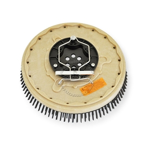 "16"" Steel wire scrubbing brush assembly fits Tennant model 515, 7300, 7400, 8010,"