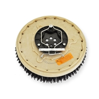 "16"" MAL-GRIT (80) scrubbing and stripping brush assembly fits Factory Cat / Tomcat model 35 (6 Point Plate - )"