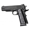 "Hogue 1911 Government/Commander 3/16"" Thin Grips Aluminum Flame Black Anodized"