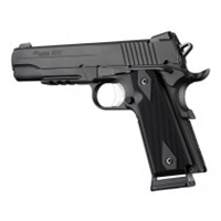"Hogue 1911 Government/Commander 9/32"" Thick Grips Aluminum Checkered Matte Black Anodized"