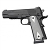 "Hogue 1911 Government/Commander 3/16"" Thin Grips Aluminum Checkered Brushed Gloss Clear Anodized"