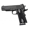 "Hogue 1911 Government/Commander 3/16"" Thin Grips Aluminum Checkered Brushed Gloss Black Anodized"