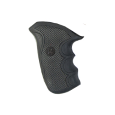 Pachmayr Taurus Grips Compact Public Defender (Polymer Frame), Black Rubber