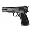 Hogue Browning Hi Power Grips Checkered Aluminum Brushed Gloss Black Anodized