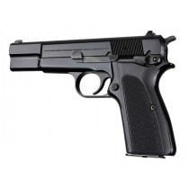 Hogue Browning Hi Power Grip Checkered G-10 Solid Black