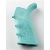 AR-15 / M16: OverMolded Rubber Beavertail Grip with Finger Grooves - Aqua