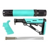 AR-15/M-16 3-Piece Kit Aqua - Grip, Collapsible Buttstock, and Forend with Accessories