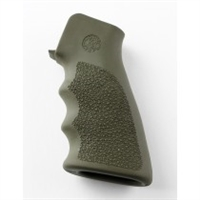 AR-15 / M16: OverMolded Rubber Grip with Finger Grooves - OD Green