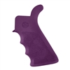 Hogue AR-15 Rubber Grip Beavertail w/Finger Grooves Purple