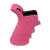 Hogue AR-15 Rubber Grip Beavertail w/Finger Grooves Pink