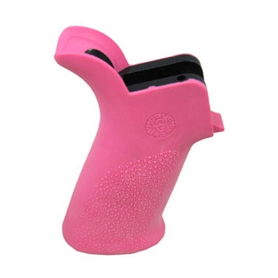 Hogue AR-15 Rubber Grip Beavertail No Finger Grooves Pink