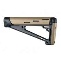 AR-15 / M16: OverMolded Fixed Buttstock (Fits A2 Buffer Tube) - FDE